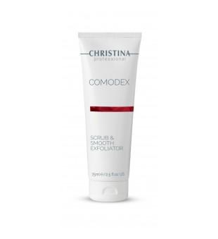 Christina Comodex Scrub & Smooth Exfoliator Veido šveitiklis, 75ml | elvaistine.lt