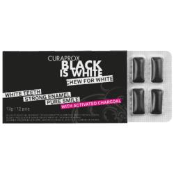Black Is White Whitening Gum Kramtoma guma su aktyvinta anglimi, 12vnt