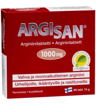Hankintatukku L-argininas Argisan N60 1000mg | elvaistine.lt