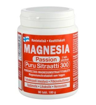 Hankintatukku Magnesia Passion Puru Sitraatti tab N90 | elvaistine.lt