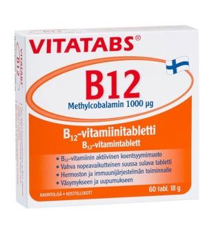 Hankintatukku Vitatabs B12 Methylcobalamin 1000mcg tab N60 | elvaistine.lt