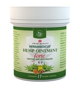 Herbamedicus Herbamedicus kanapių tepalas Forte, 125ml | elvaistine.lt