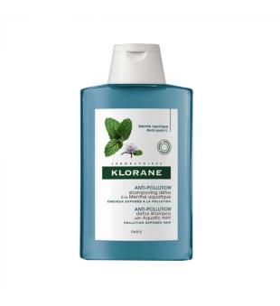 Klorane Anti-Pollution Valomasis šampūnas su vandeninės mėtos ekstraktu, 200ml | elvaistine.lt