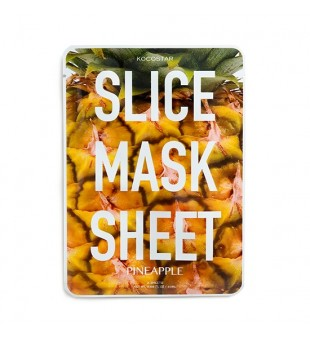 Kocostar Elastingumo suteikianti lakštinė kaukė su ananasu, 2 lakštai   elvaistine.lt
