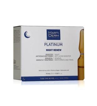 MartiDerm MartiDerm NIGHT RENEW Atkuriamosios naktinės veido ampulės, 10vnt.   elvaistine.lt