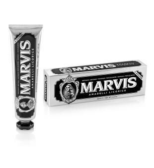 Marvis Amarelli Licorice Saldymedžio ir mėtų skonio dantų pasta, 85ml | elvaistine.lt