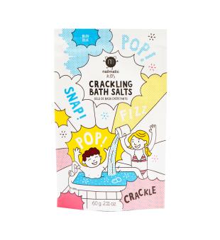 Nailmatic KIDS Blue Crackling Bath Salts Spragsinti vonios druska, 60g   elvaistine.lt