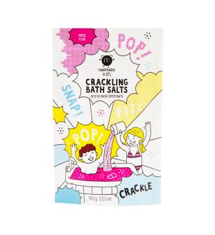 Nailmatic KIDS Pink Crackling Bath Salts Spragsinti vonios druska, 60g | elvaistine.lt