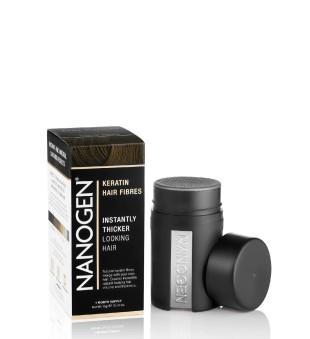 Nanogen Plaukų efektą sukurianti pudra-skaidulos - Black, 15g   elvaistine.lt