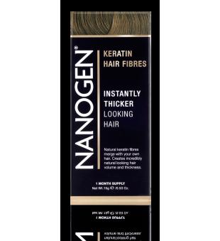 Nanogen Keratin Hair Fibres Light Brown Plaukų efektą sukurianti pudra-skaidulos, 15g | elvaistine.lt