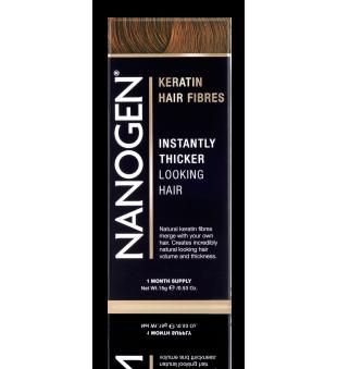 Nanogen Keratin Hair Fibres Auburn Plaukų efektą sukurianti pudra-skaidulos, 15g | elvaistine.lt