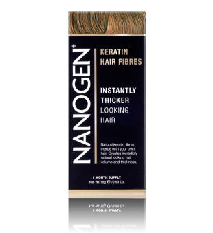 Nanogen Keratin Hair Fibres Cinnamon Plaukų efektą sukurianti pudra-skaidulos, 15g | elvaistine.lt