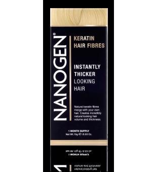 Nanogen Keratin Hair Fibres Light Blonde Plaukų efektą sukurianti pudra-skaidulos, 15g   elvaistine.lt