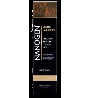 Nanogen Keratin Hair Fibres Auburn Plaukų efektą sukurianti pudra-skaidulos, 30g | elvaistine.lt