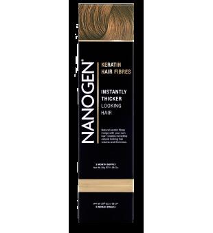 Nanogen Keratin Hair Fibres Cinnamon Plaukų efektą sukurianti pudra-skaidulos, 30g | elvaistine.lt