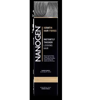 Nanogen Keratin Hair Fibres Grey Plaukų efektą sukurianti pudra-skaidulos, 30g | elvaistine.lt
