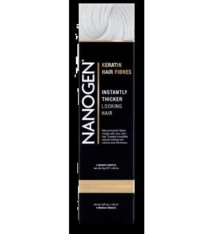 Nanogen Keratin Hair Fibres White Plaukų efektą sukurianti pudra-skaidulos, 30g   elvaistine.lt