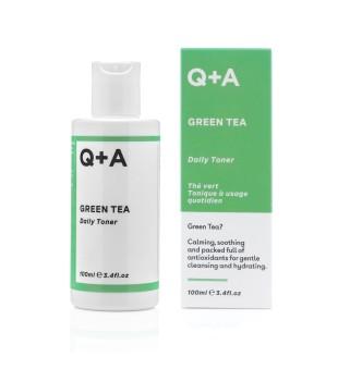 Q+A Green Tea Daily Toner Kasdienis veido tonikas su žaliąja arbata, 100ml | elvaistine.lt