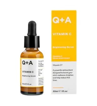Q+A Vitamin C Brightening Serum Skaistinamasis veido serumas, 30ml | elvaistine.lt