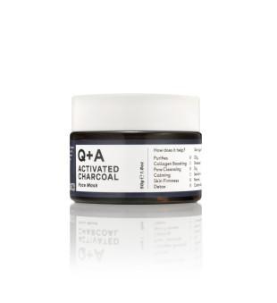 Q+A Activated Charcoal Detox Face Mask Valomoji veido kaukė su aktyvuota anglimi, 50g   elvaistine.lt