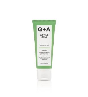 Q+A Apple AHA Exfoliating Gel Gelinis veido šveitiklis, 75ml   elvaistine.lt