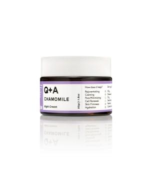 Q+A Chamomile Night Cream Raminamasis naktinis veido kremas, 50g   elvaistine.lt