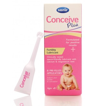 Sasmar Conceive Plus vaisingumo lubrikantas, aplikatoriai 8x4g, Sasmar | elvaistine.lt
