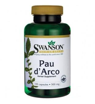 Swanson PAU D'ARCO 500 mg N100 | elvaistine.lt