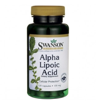 Swanson Alfa lipo rūgštis 100 mg N120 | elvaistine.lt