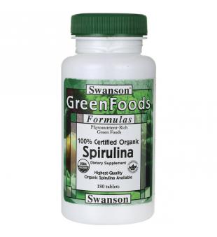 Swanson Spirulina 500 mg N180   elvaistine.lt