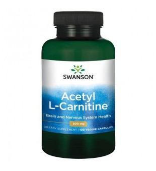 Swanson Acetil L-Karnitinas 500 mg N100 | elvaistine.lt