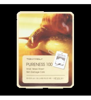 Tony Moly Tony Moly Pureness 100 Snail Mask Sheet Lakštinė veido kaukė su sraigių ekstraktu, 1vnt.   elvaistine.lt