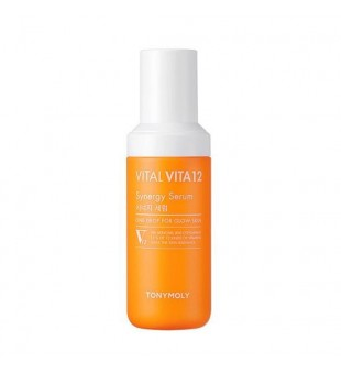 Tony Moly Vital Vita 12 Synergy Serum Skaistinamasis veido serumas su vitaminais, 50ml   elvaistine.lt