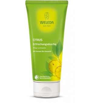 Weleda Citrus Creamy Body Wash Kreminis prausiklis su citrusiniais vaisiais, 200ml | elvaistine.lt