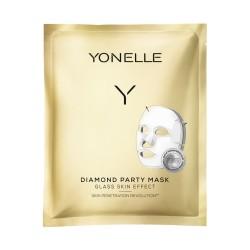 Diamond Party Mask Intensyvaus poveikio gavinamoji veido kaukė, 1vnt