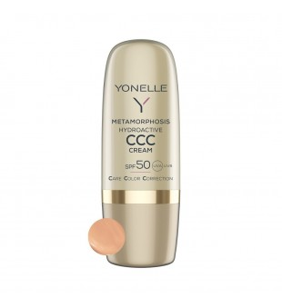 Yonelle Metamorphosis Hydroactive CCC Cream SPF 50 Atspalvį suteikiantis veido kremas, 30ml | elvaistine.lt